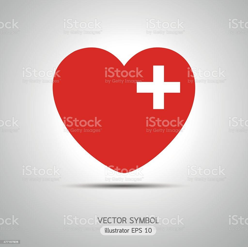 Lock heart vector art illustration