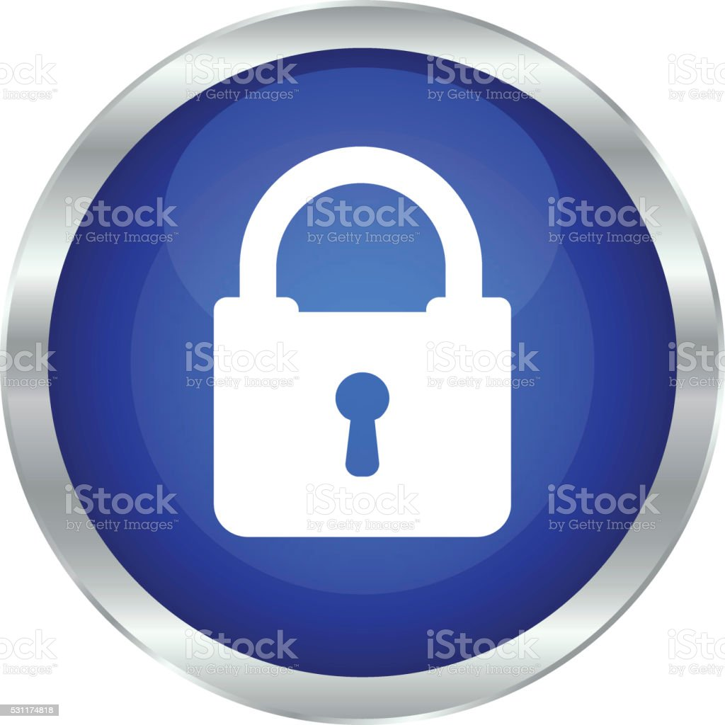 Lock icon - illustration vector art illustration
