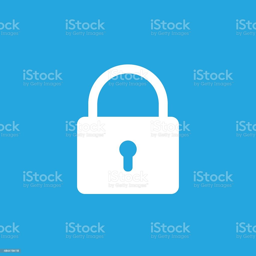 Lock icon, modern minimal flat design style. Padlock vector illustration vector art illustration