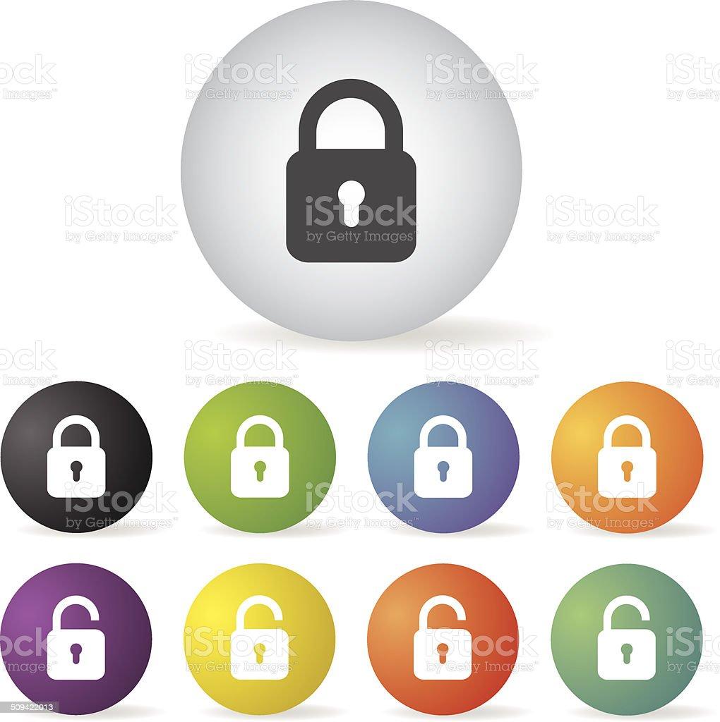 lock icon set royalty-free stock vector art