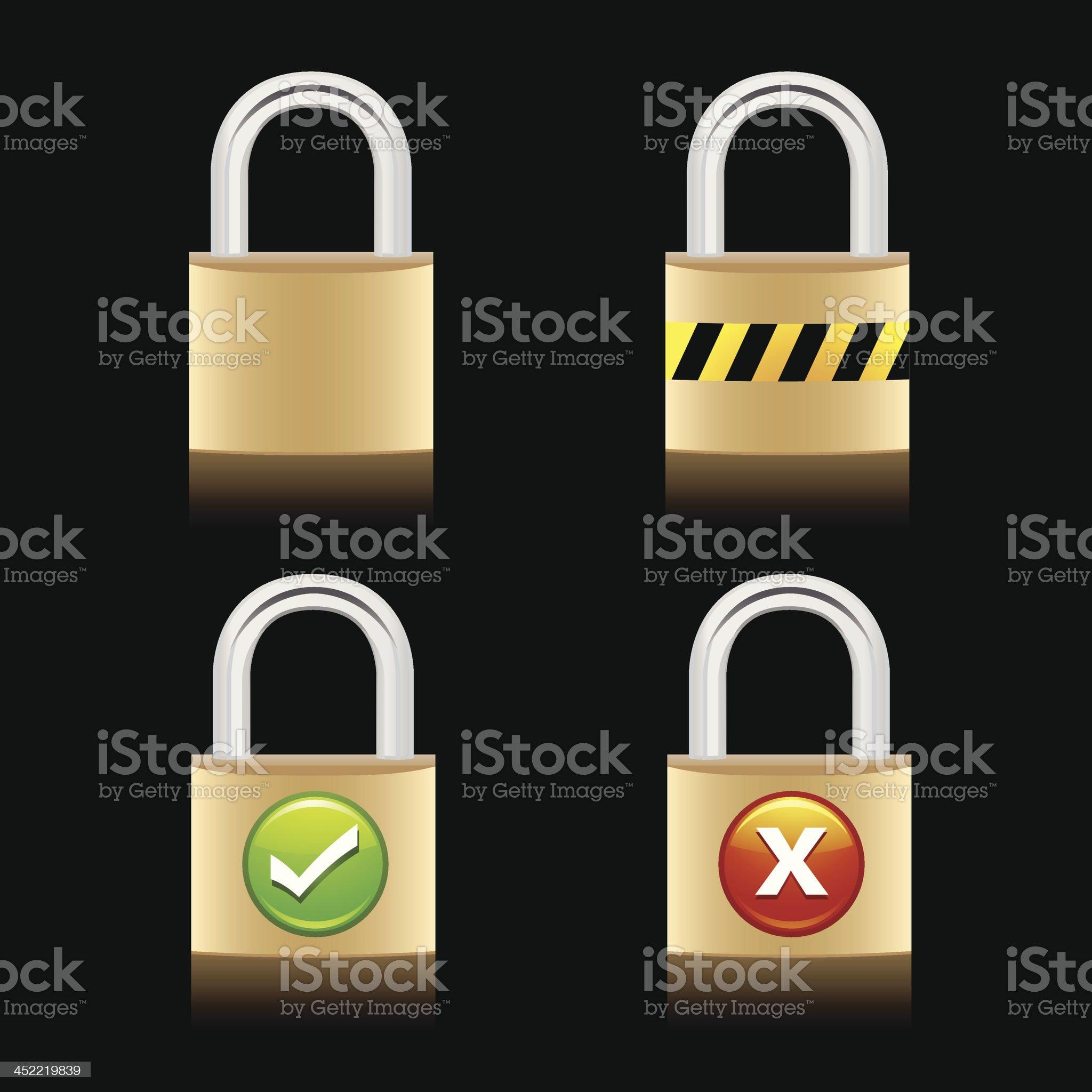 Lock icon royalty-free stock vector art