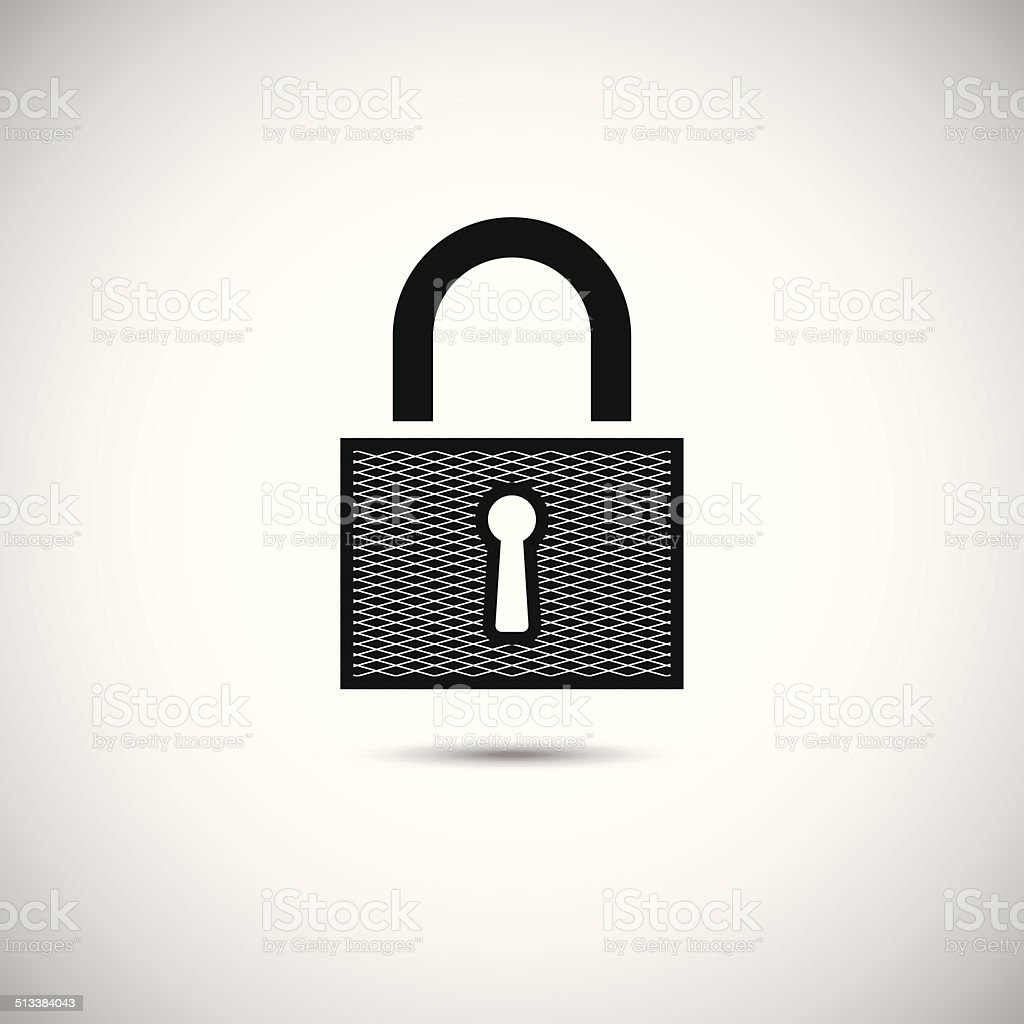 Icône de serrure stock vecteur libres de droits libre de droits
