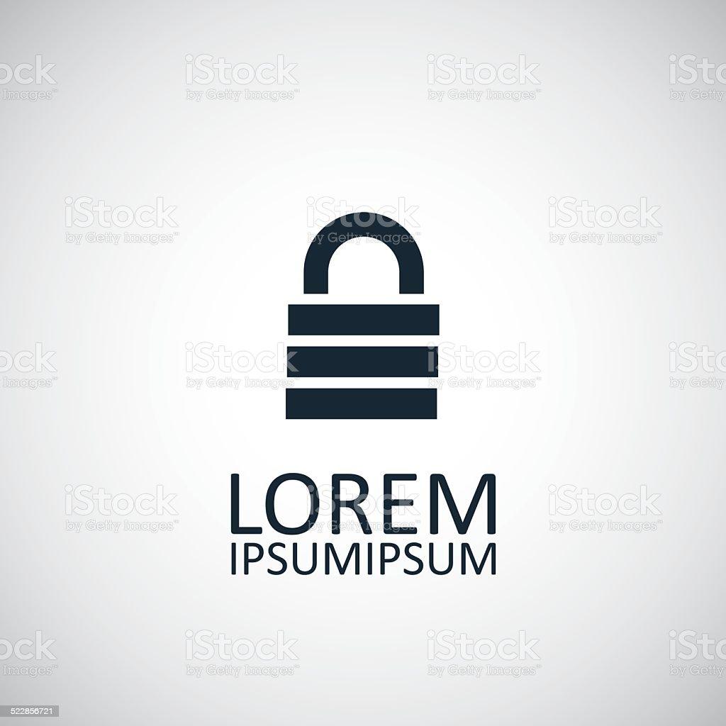 lock icon vector art illustration