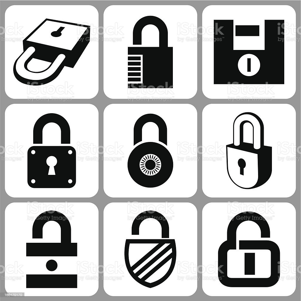 lock icons royalty-free stock vector art