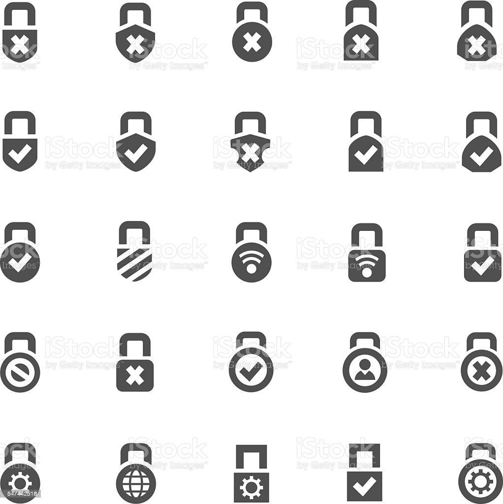 Lock icons vector art illustration
