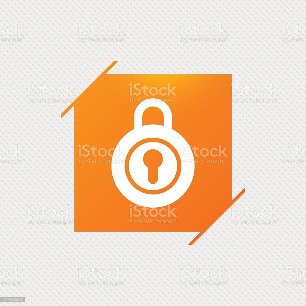 Lock sign icon. Locker symbol. vector art illustration