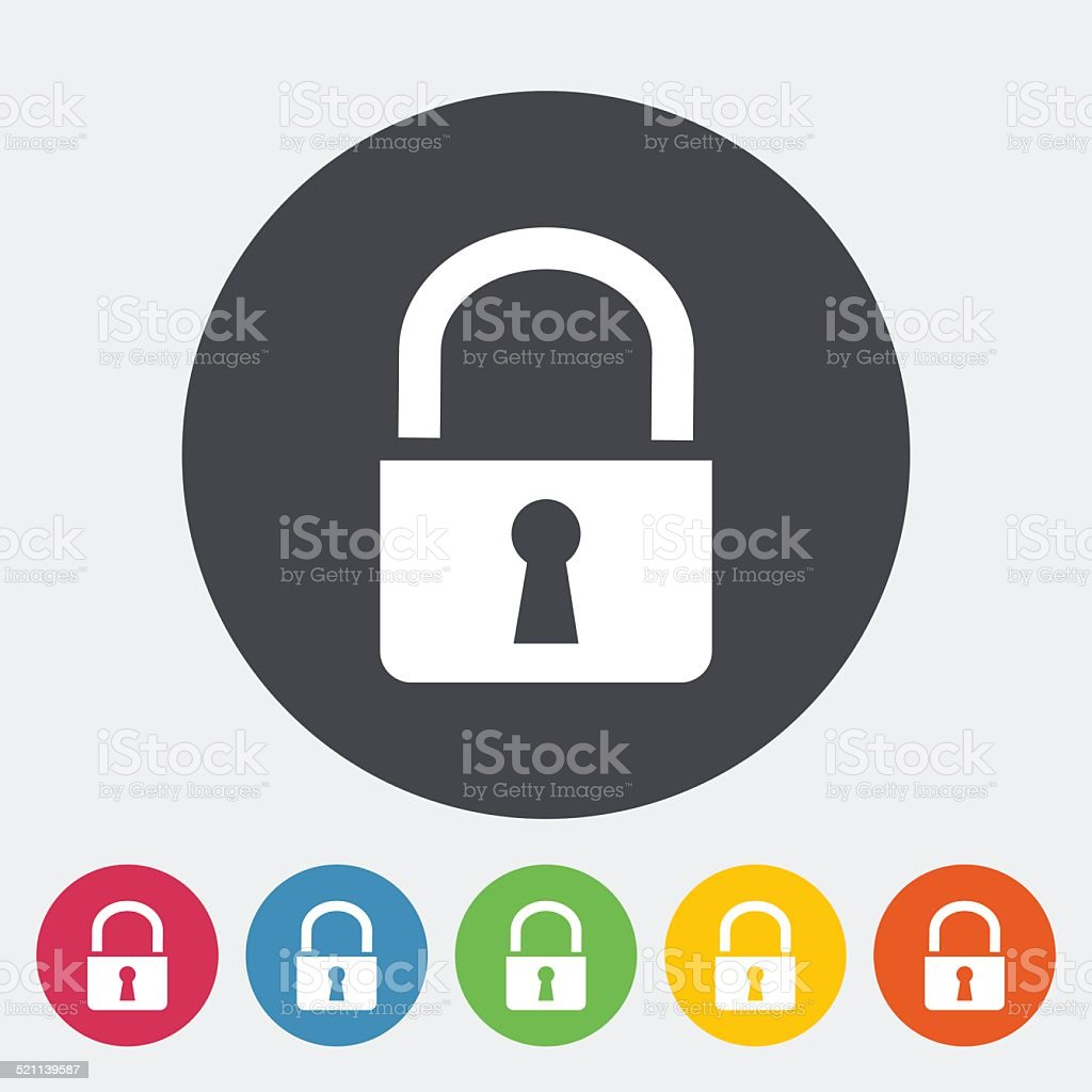 Lock single icon. vector art illustration