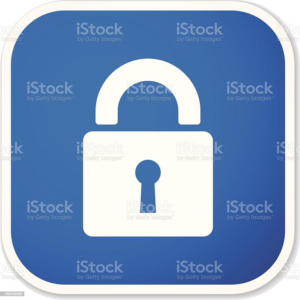 lock sq sticker royalty-free stock vector art