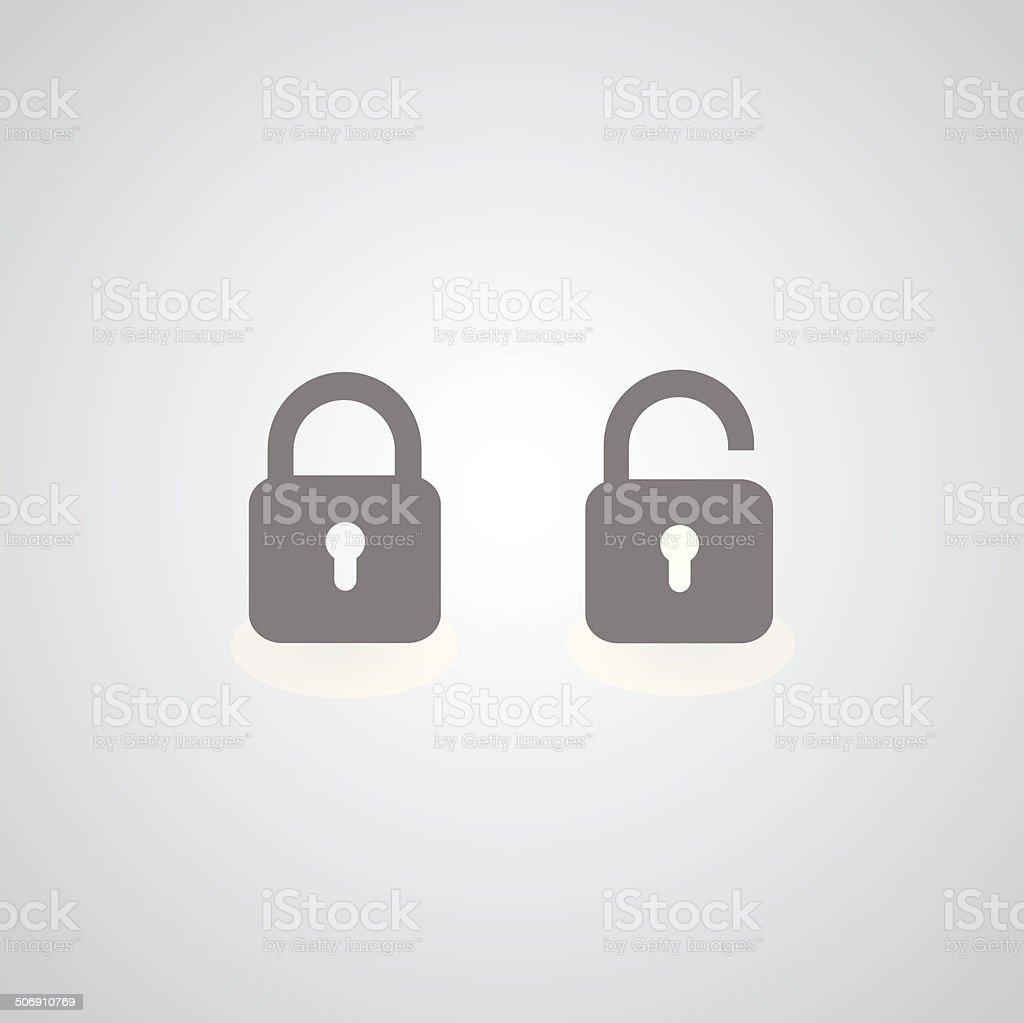 lock symbol vector art illustration
