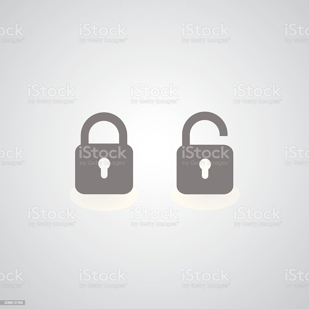 lock symbol vector art illustration
