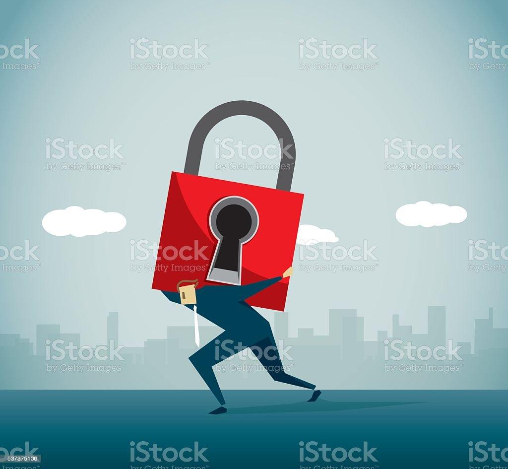 Lock vector art illustration