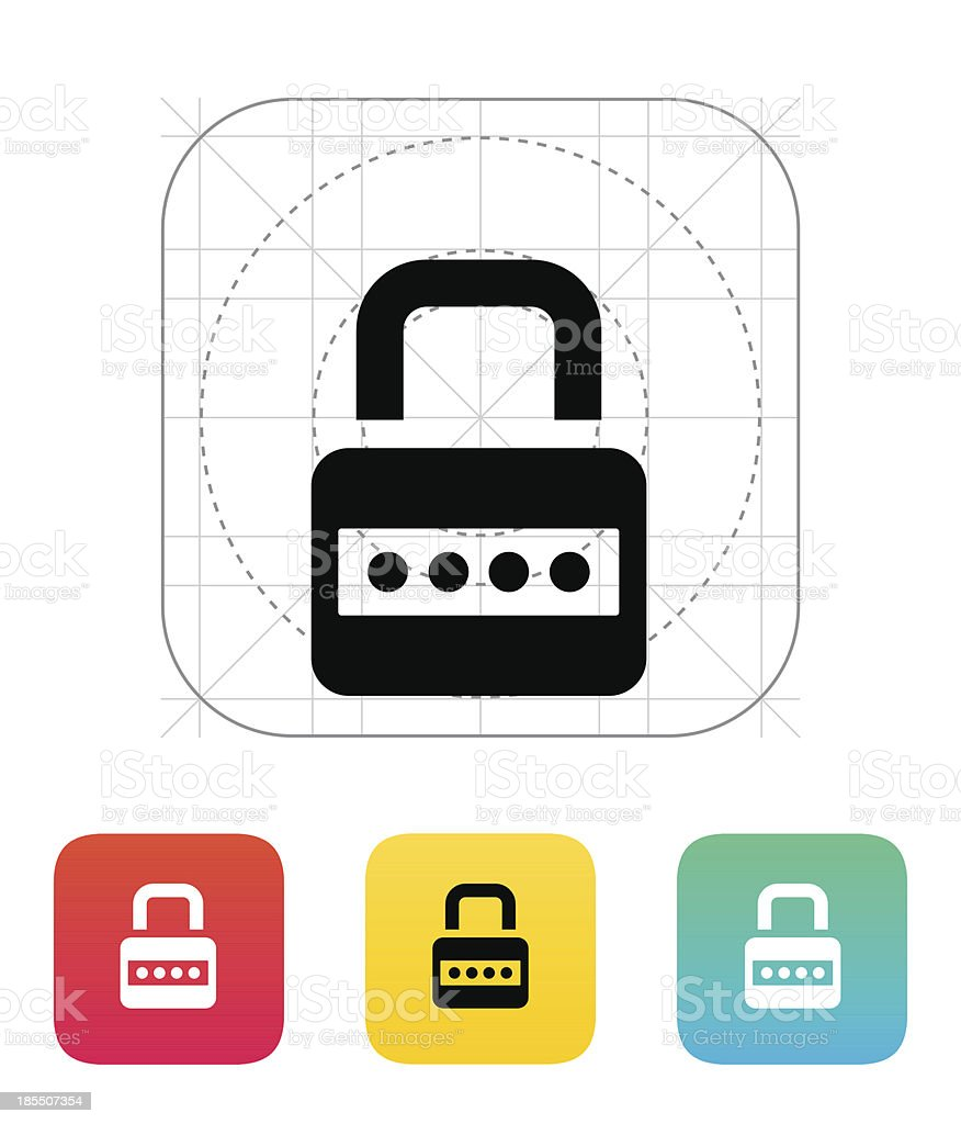 Lock with password icon. royalty-free stock vector art