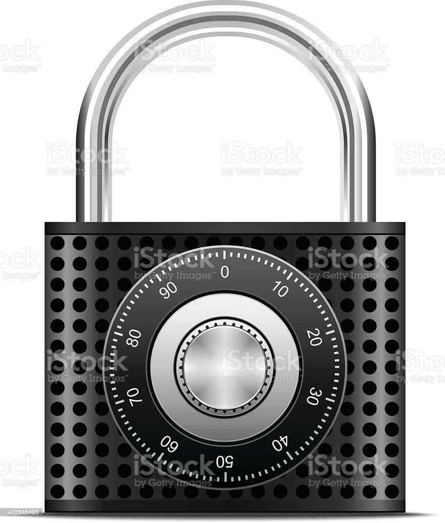 Locked combination padlock royalty-free stock vector art