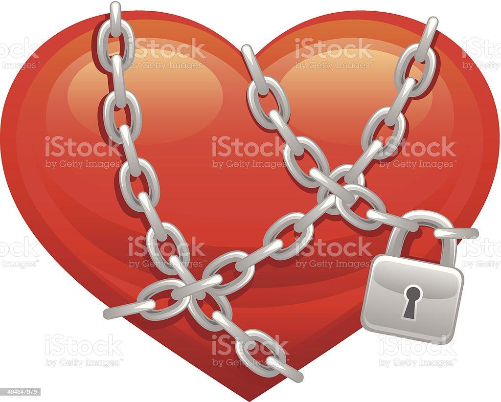 Locked heart royalty-free stock vector art