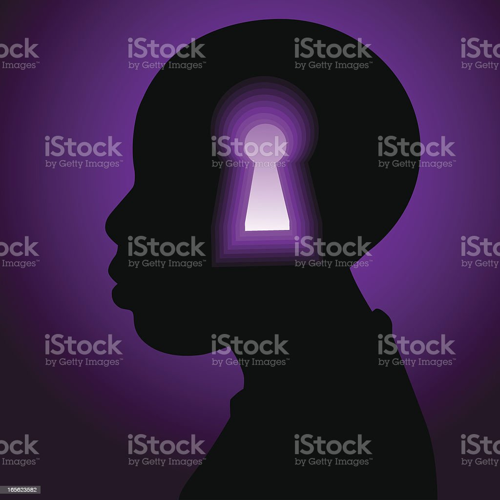 Locked mind royalty-free stock vector art