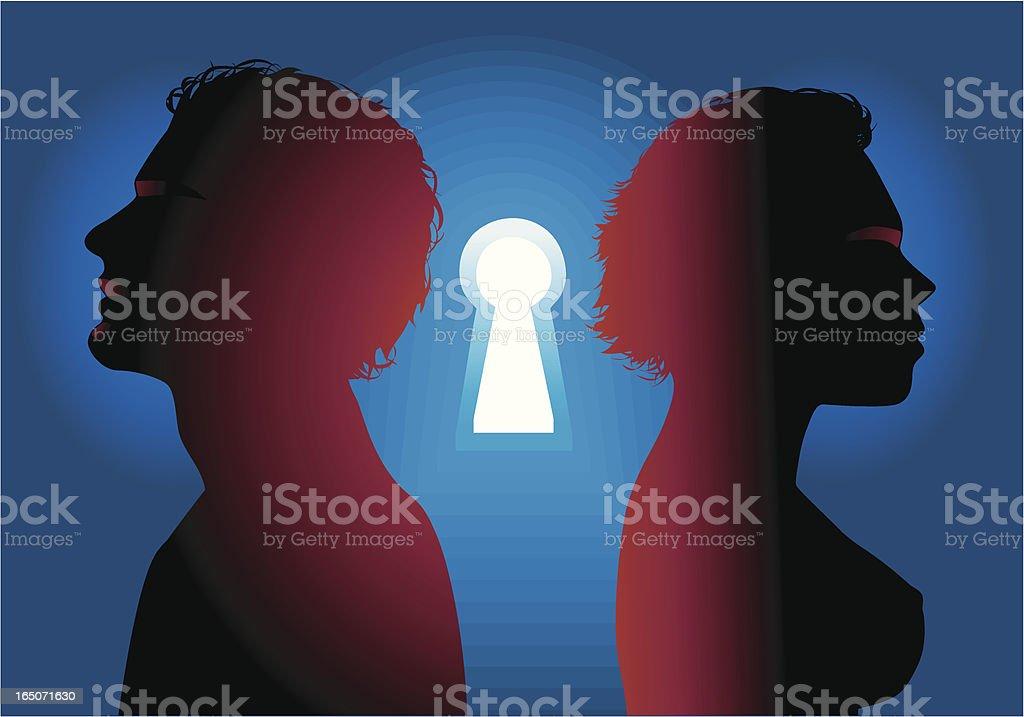Locked relationship royalty-free stock vector art