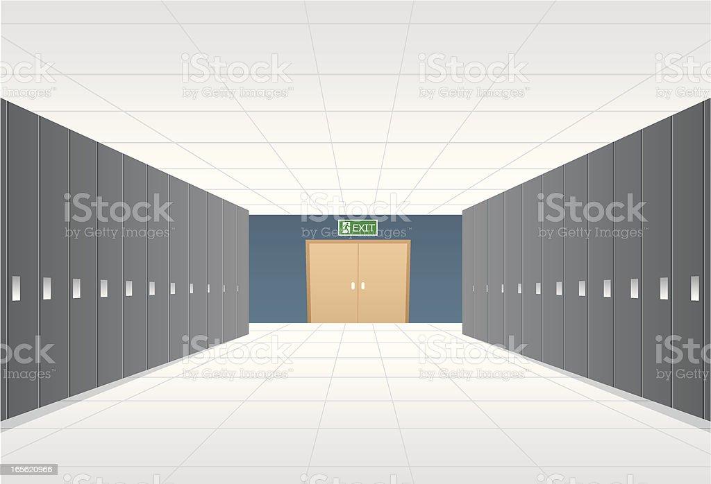 locker room vector art illustration