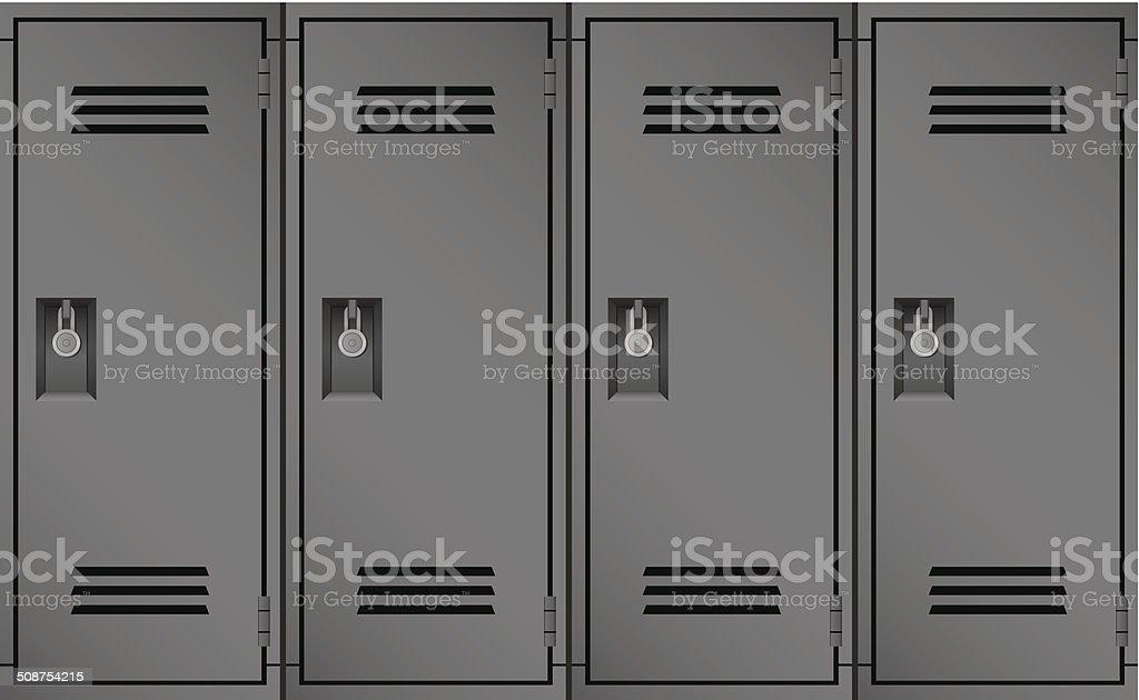 Lockers vector art illustration