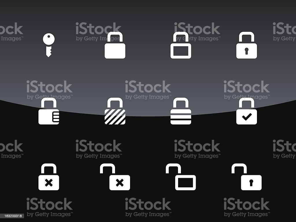 Locks Icons | Glass Style royalty-free stock vector art