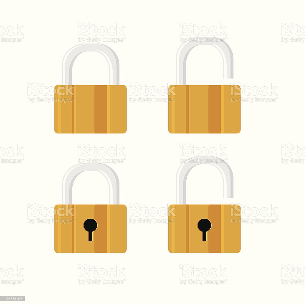Locks icons on white background. royalty-free stock vector art