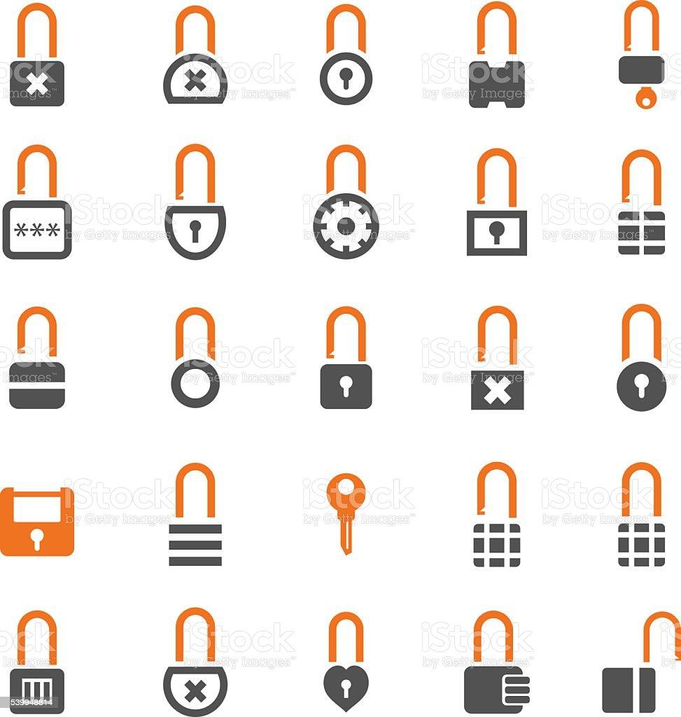 Locks Icons vector art illustration