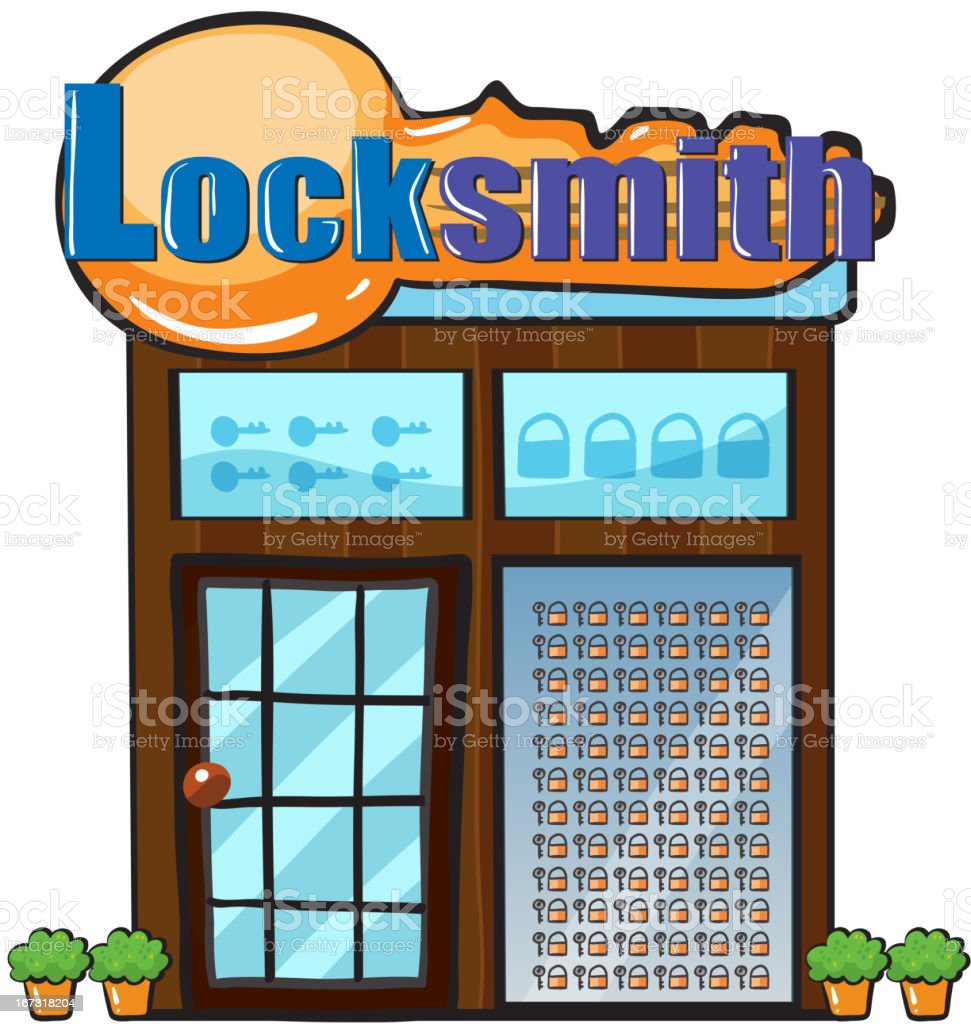 Locksmith shop royalty-free stock vector art
