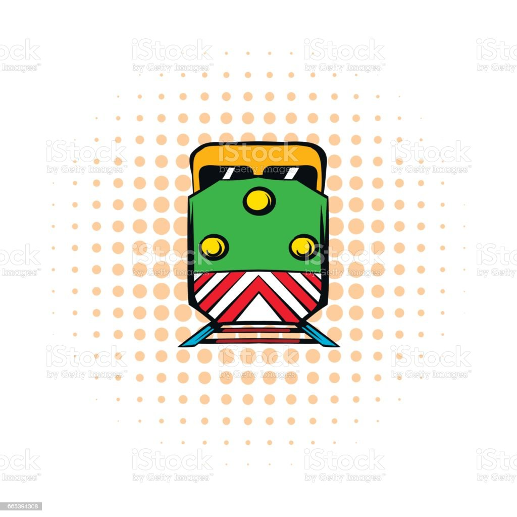 Locomotive comics icon vector art illustration
