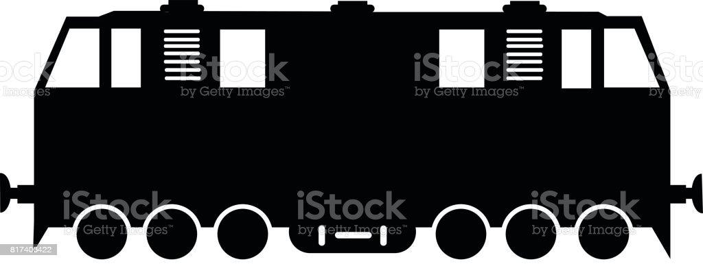 Locomotive Single Vector Illustration vector art illustration