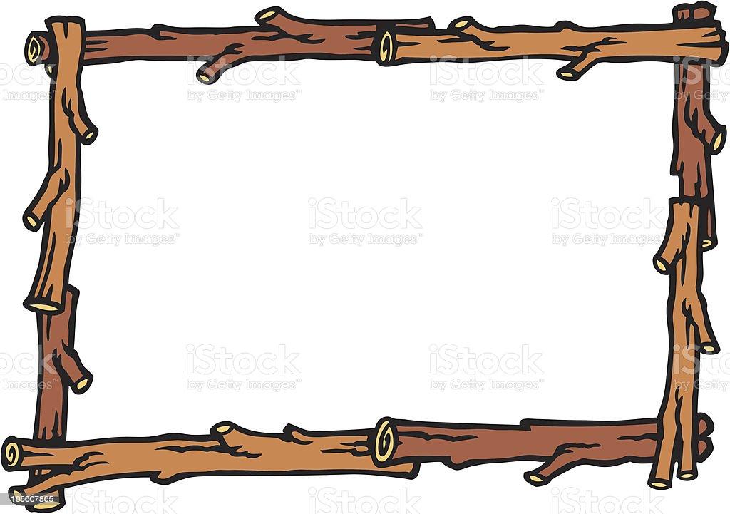 Log Frame royalty-free stock vector art