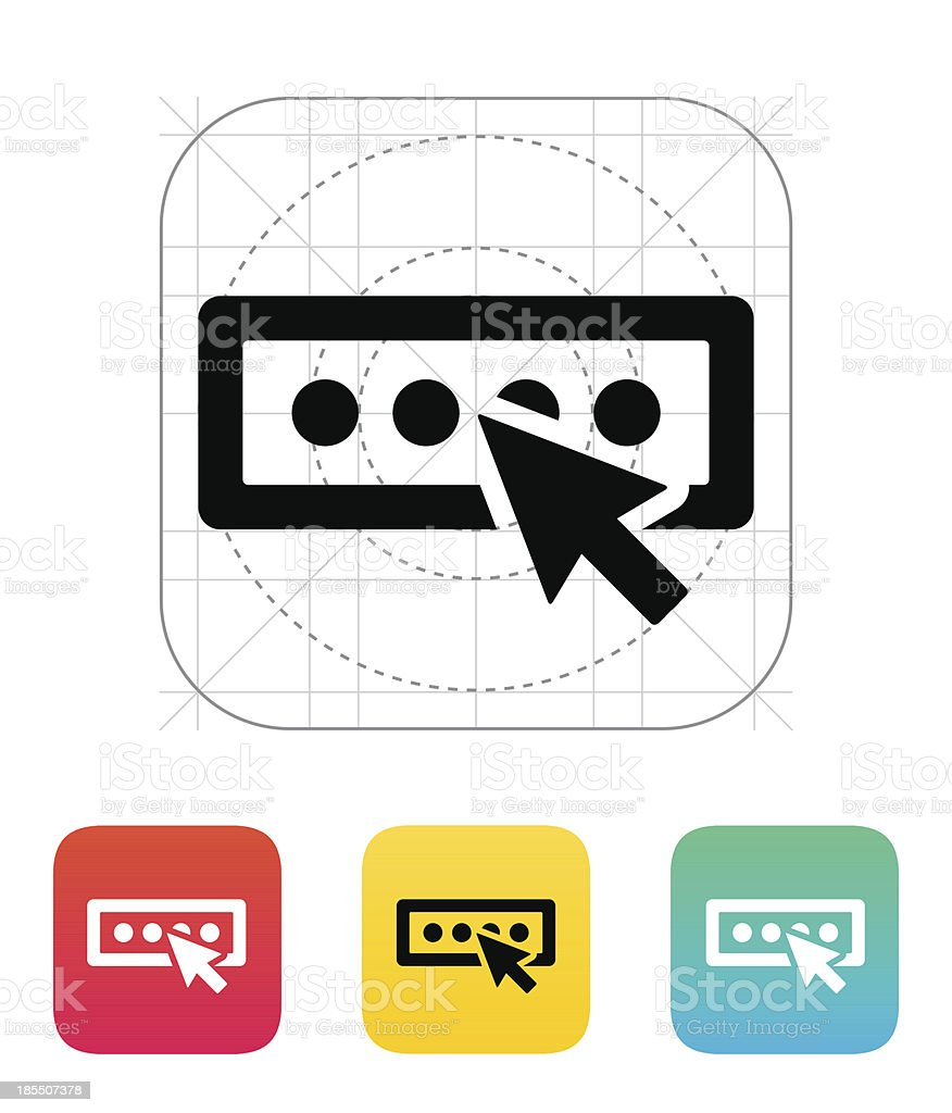 Login password icon. royalty-free stock vector art