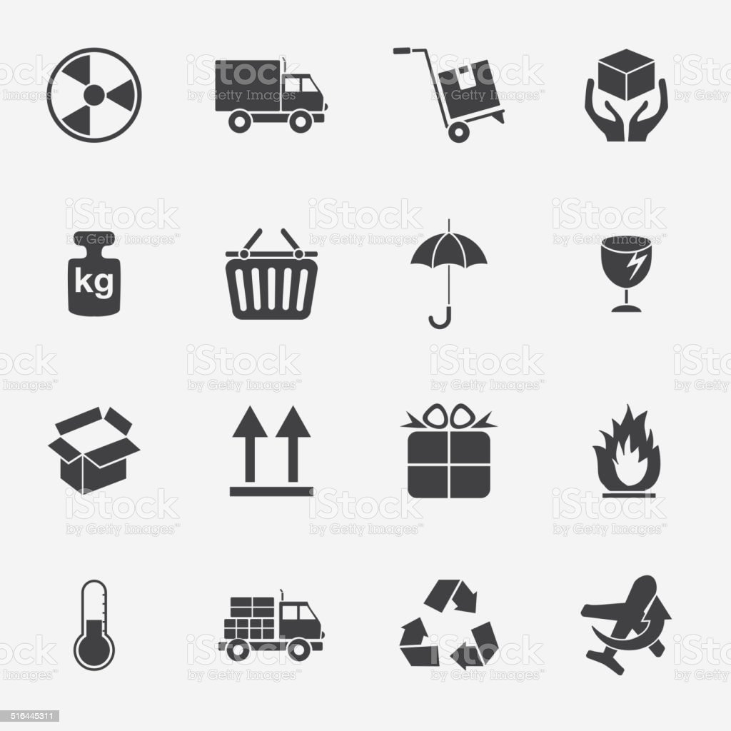 Logistic and packing icon vector art illustration