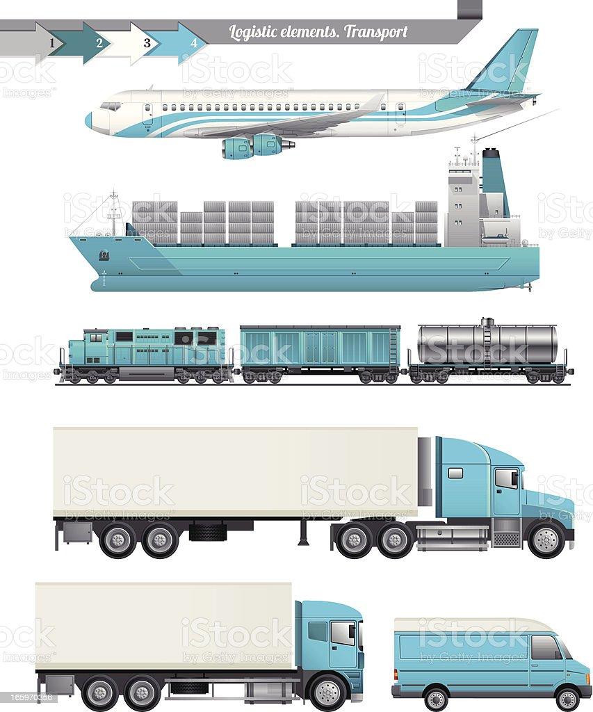 Logistic Elements vector art illustration