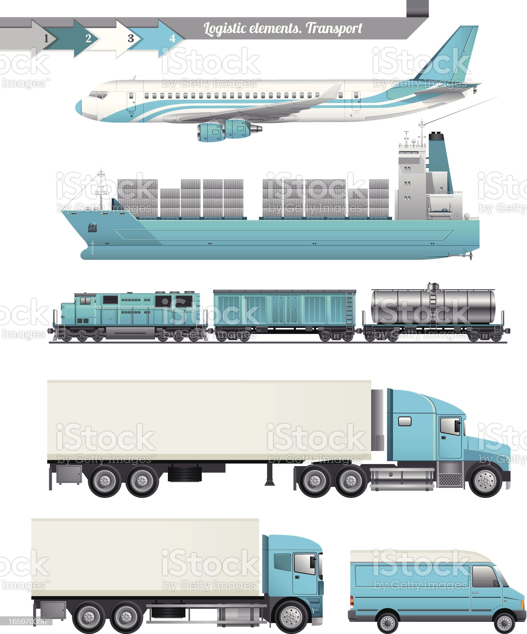 Logistic Elements royalty-free stock vector art