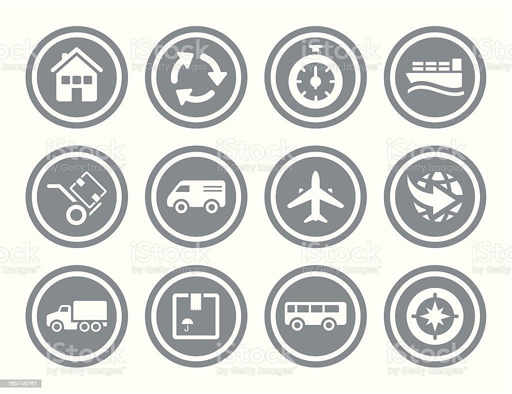 Logistic Icon Set vector art illustration