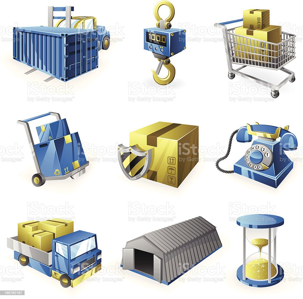 Logistic Icon Set royalty-free stock vector art