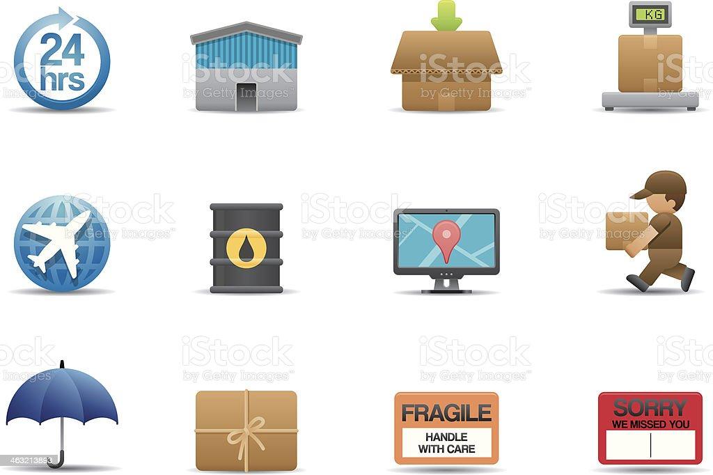 Logistic icons | Premium Matte series vector art illustration