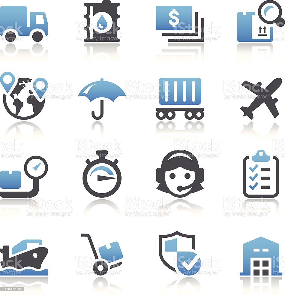 Logistic Icons royalty-free stock vector art