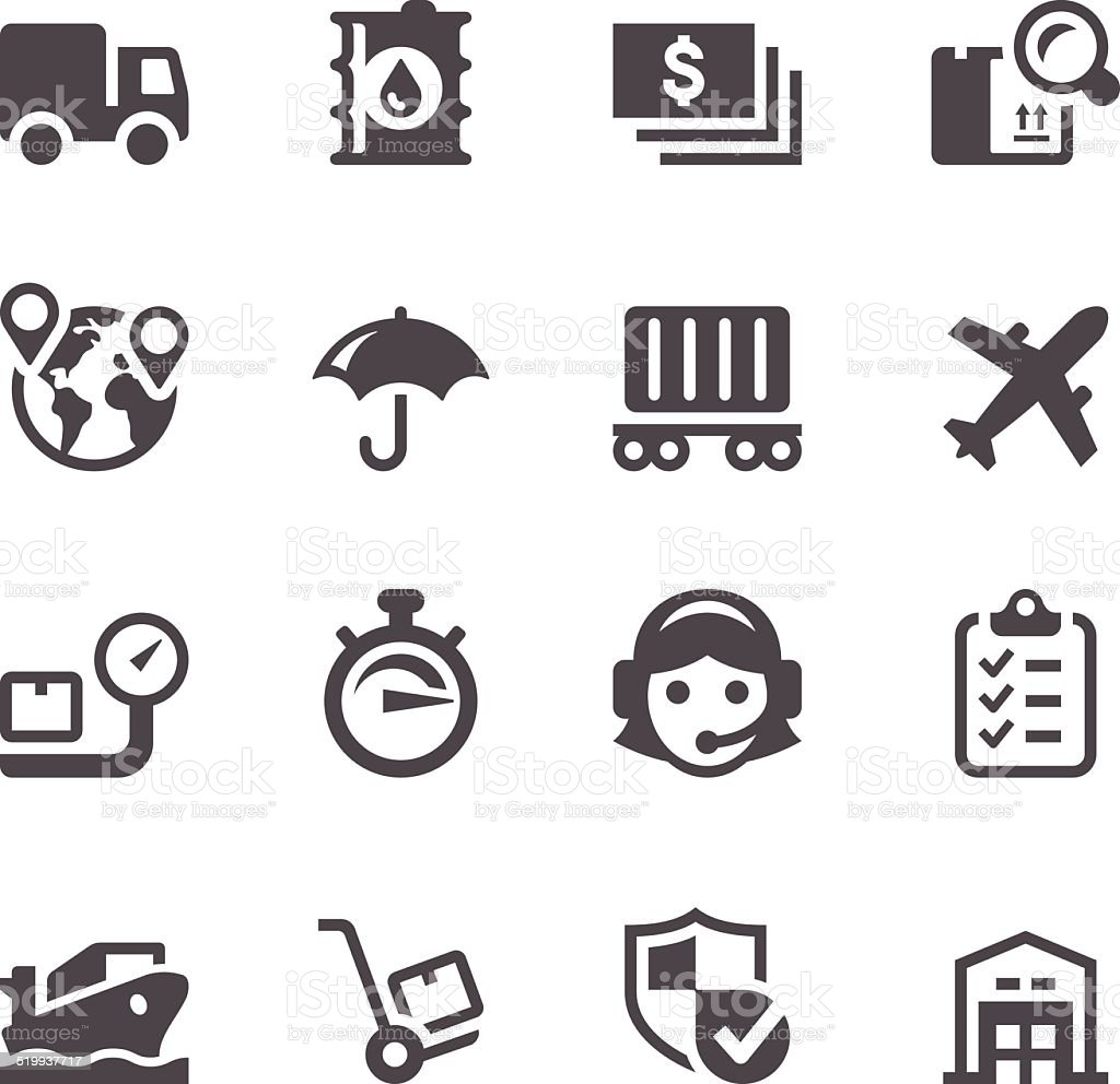 Logistic Icons vector art illustration