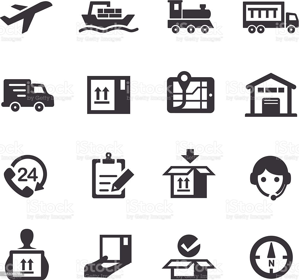 Logistics and Shipping Icons - Acme Series vector art illustration