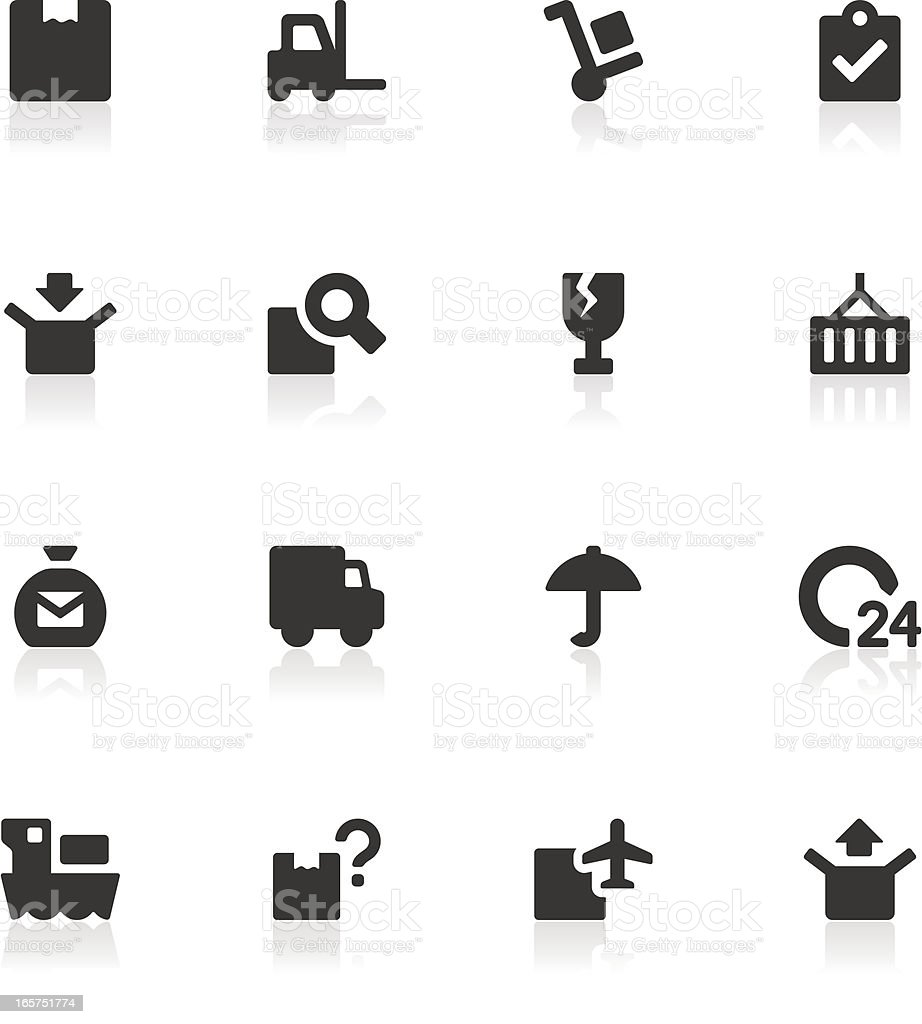 Logistics and Shipping Icons royalty-free stock vector art