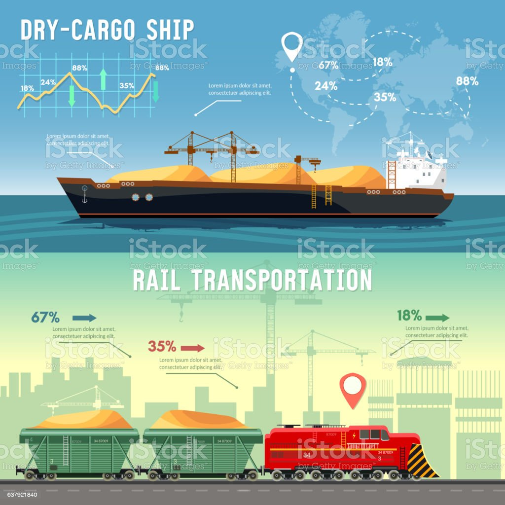 Logistics concept. Cargo transportation. vector art illustration