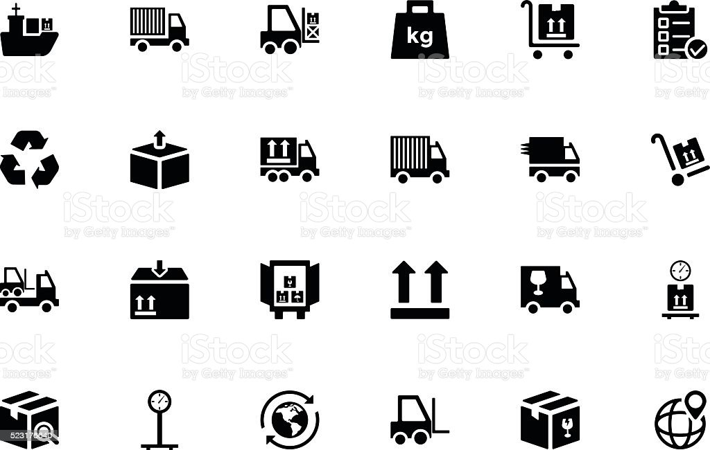 Logistics Delivery Vector Icons 1 vector art illustration