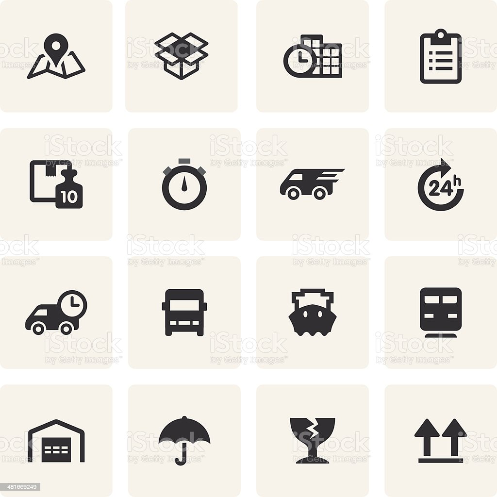 Logistics Icon Set (Saro Series) vector art illustration