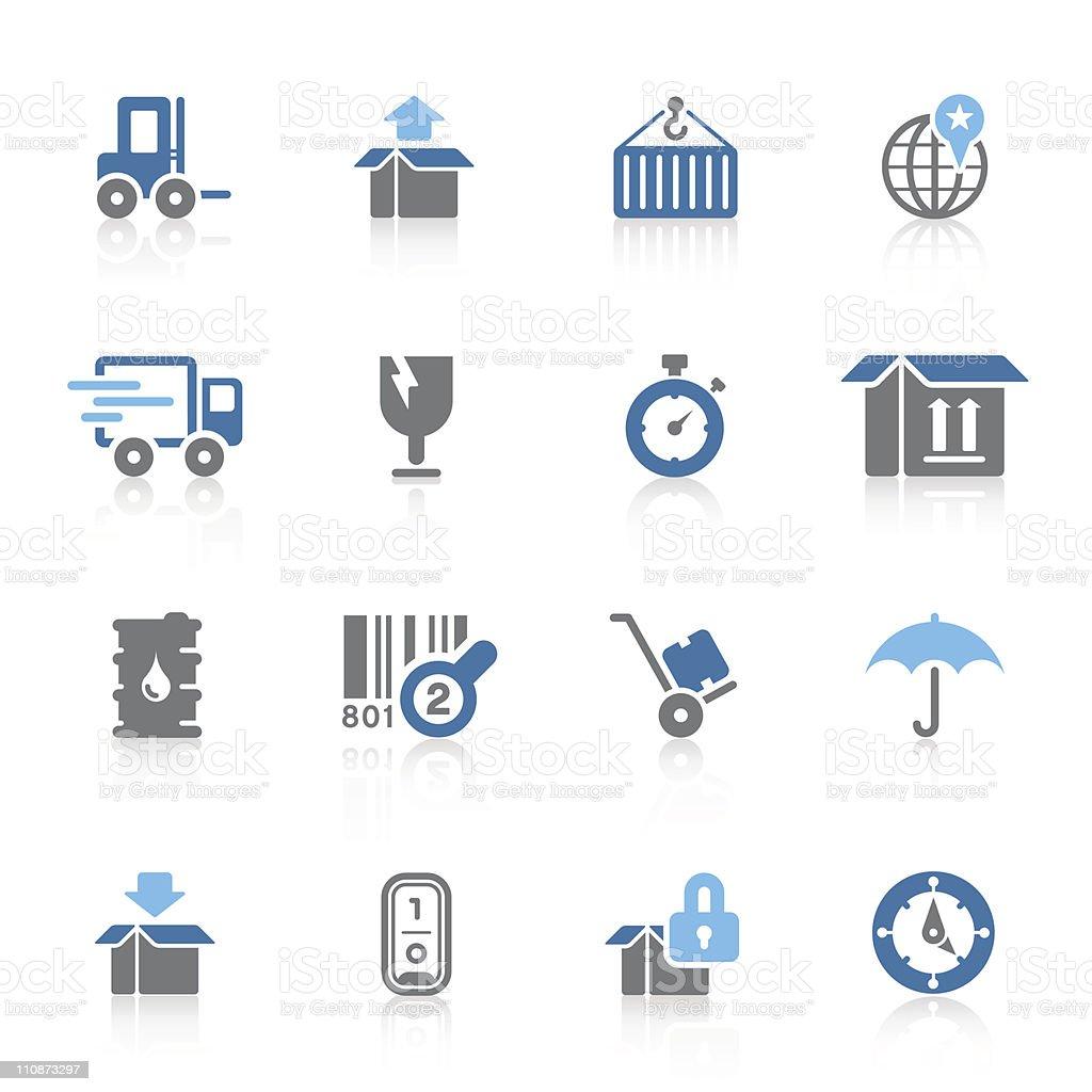 Logistics icons | azur series vector art illustration