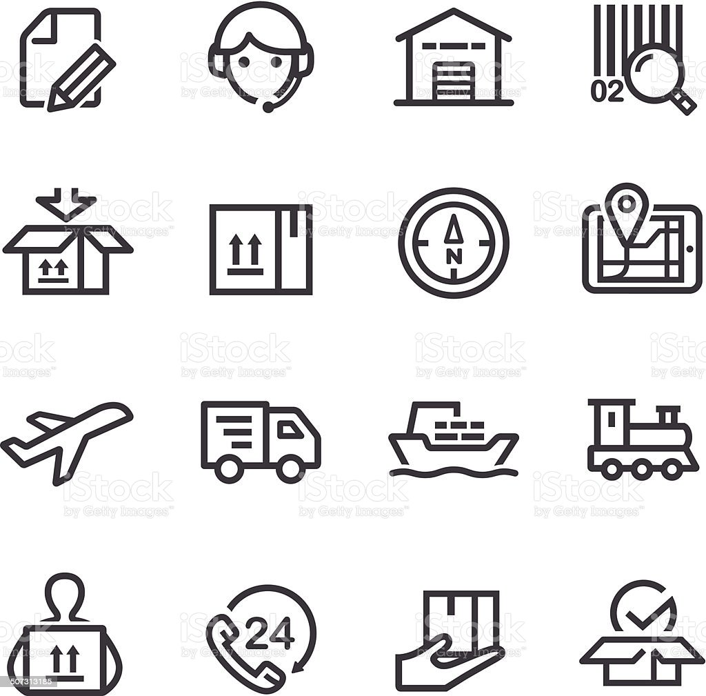 Logistics Icons - Line Series vector art illustration