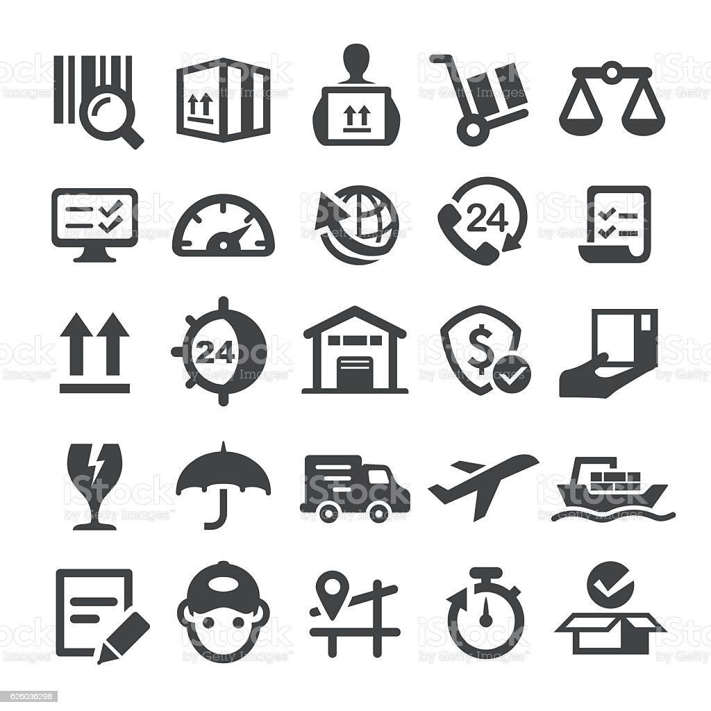 Logistics Icons - Smart Series vector art illustration