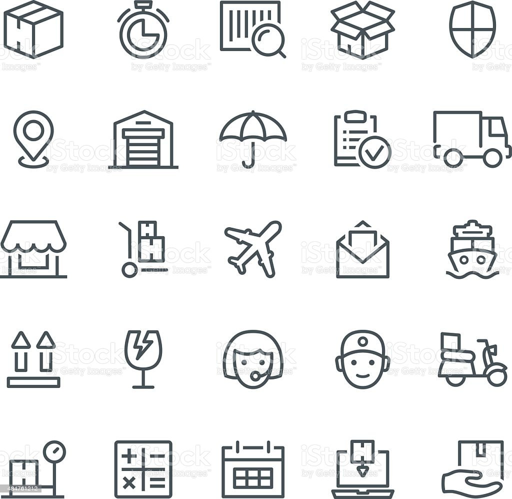 Logistics Icons vector art illustration