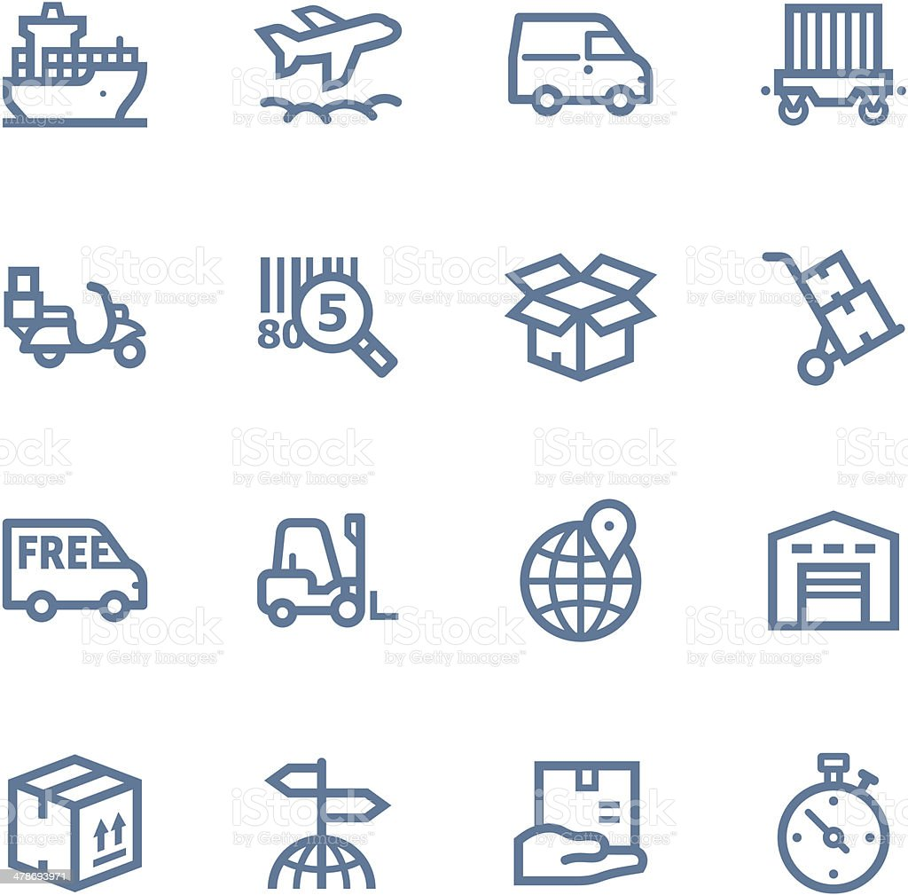Logistics  line Icons vector art illustration