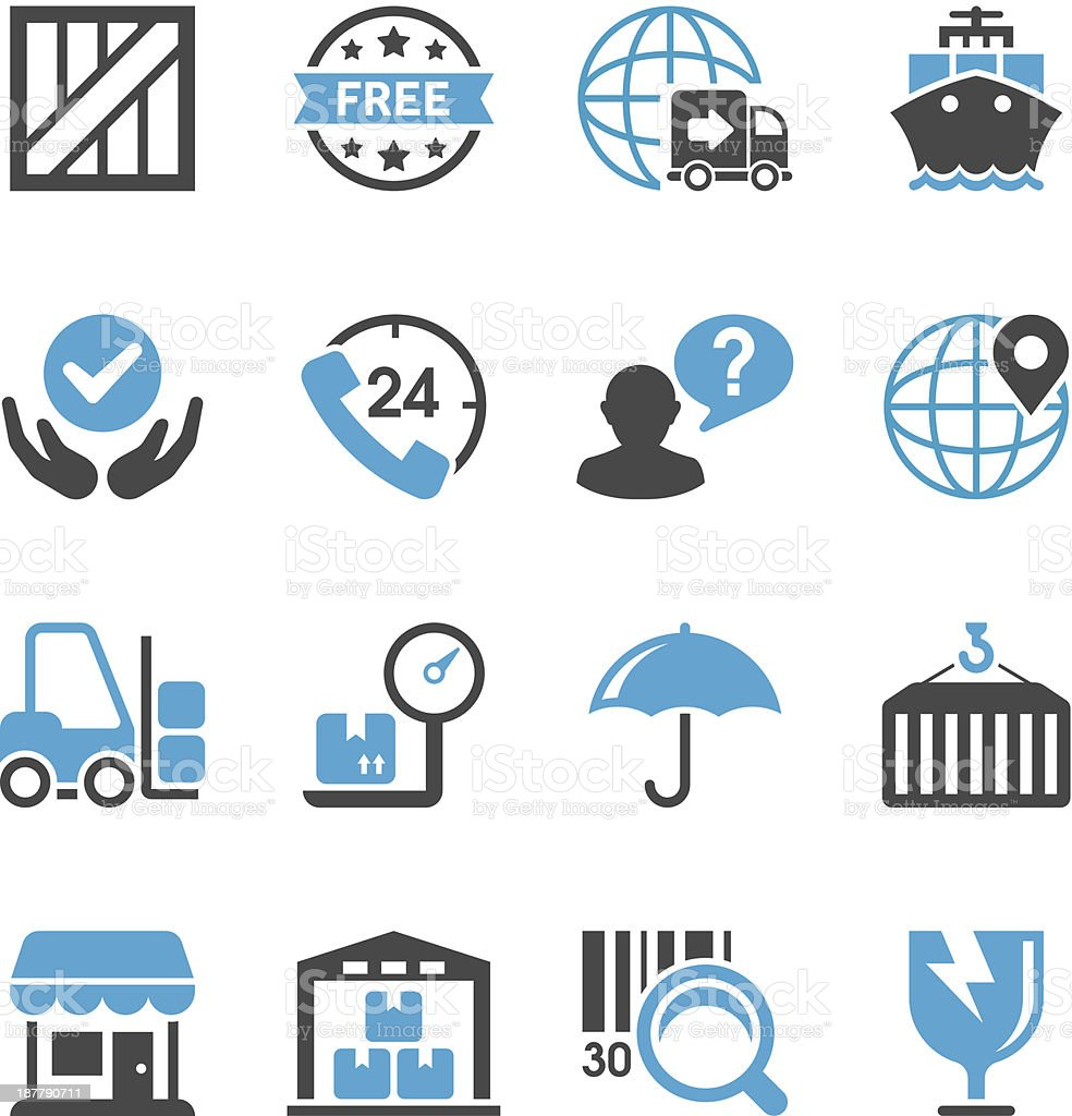 Logistics & Shipping Icon Set | Concise Series vector art illustration
