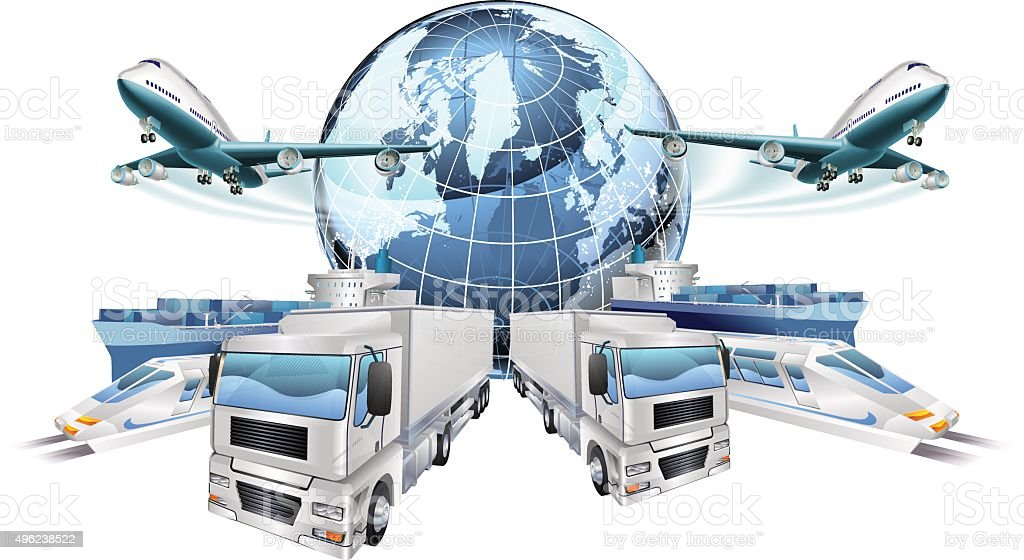 Logistics Transport Concept vector art illustration